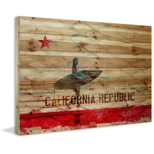 The Republic 45 x 30 In. Painting Print on Natural Pine Wood