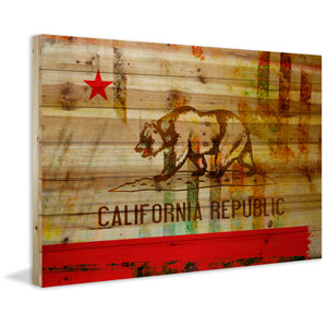 Cali 45 x 30 In. Painting Print on Natural Pine Wood