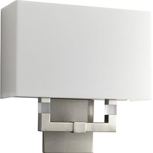 Chameleon Satin Nickel Two-Light 120V/277V Wall Sconce with Matte White Shade