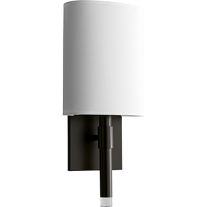 Beacon Old World One-Light 120V/277V Wall Sconce with White Cotton Shade