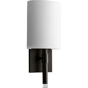 Beacon Old World One-Light 120V/277V Wall Sconce with Matte White Shade