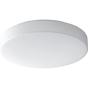 Rhythm White Two-Light Flush Mount