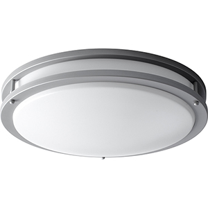 Oracle Grey Two-Light Flush Mount