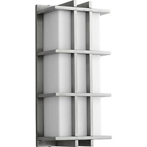 Telshor Satin Nickel 17-Inch Two-Light 120V/277V Outdoor Wall Mount