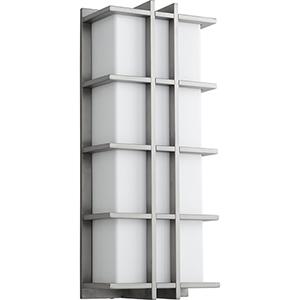 Telshor Satin Nickel 22-Inch Two-Light 120V/277V Outdoor Wall Mount