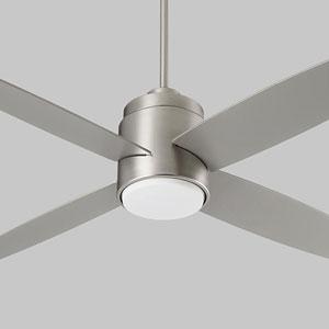 Oslo Satin Nickel 52-Inch Ceiling Fan