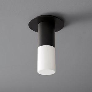 Pilar Small Black Glass 5-Inch LED 120V Ceiling Mount