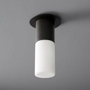 Pilar Large Black Glass 5-Inch LED 120V Ceiling Mount