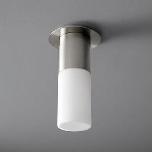 Pilar Large Satin Nickel Glass 5-Inch LED 120V Ceiling Mount