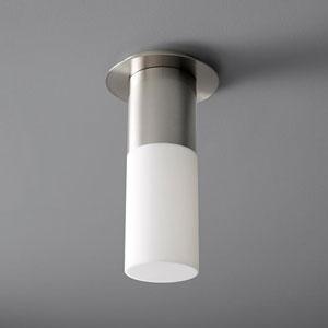 Pilar Large Satin Nickel Acrylic 5-Inch LED 120V Ceiling Mount