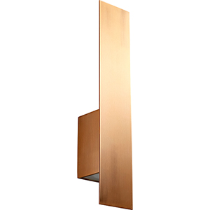 Reflex Satin Copper Two-Light LED Wall Sconce