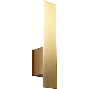 Reflex Aged Brass Two-Light LED Wall Sconce