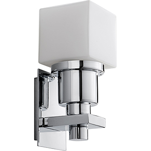 Elements Polished Chrome One-Light LED Wall Sconce with White Opal Glass
