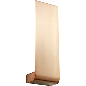 Halo Satin Copper One-Light LED Wall Sconce