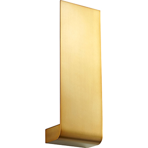Halo Aged Brass One-Light LED Wall Sconce