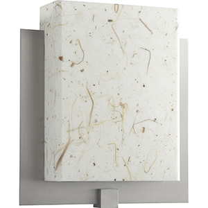 Pathways Satin Nickel One-Light LED Wall Sconce with Tobacco Shade