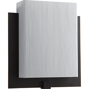 Pathways Old World One-Light LED Wall Sconce with Silver Cloth Shade