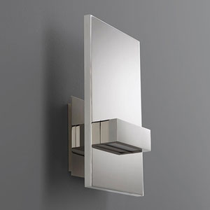 Vela Polished Chrome Six-Inch LED 120V Sconce
