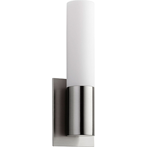 Magneta Satin Nickel One-Light LED Wall Sconce with Matte Opal Glass