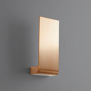 Halo Satin Copper Five-Inch LED 120V Sconce