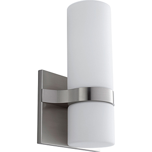 Olio Satin Nickel Two-Light LED Wall Sconce