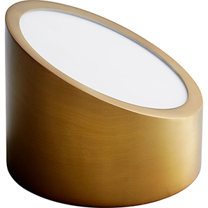 Zeepers Aged Brass One-Light LED Wall Sconce