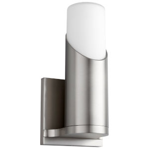 Ellipse Satin Nickel LED Glass Wall Sconce