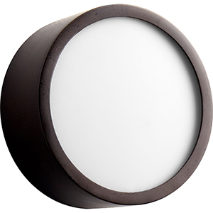 Peepers Oiled Bronze One-Light LED Flush Mount