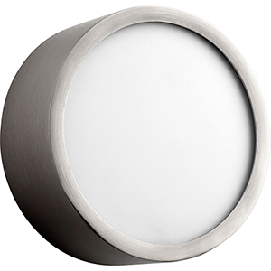 Peepers Satin Nickel One-Light LED Flush Mount