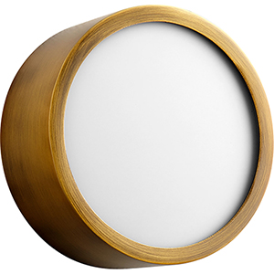 Peepers Aged Brass One-Light LED Flush Mount