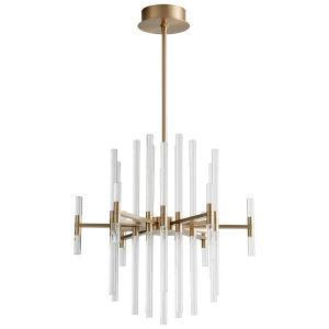 Miro Aged Brass 37-Light LED Chandelier