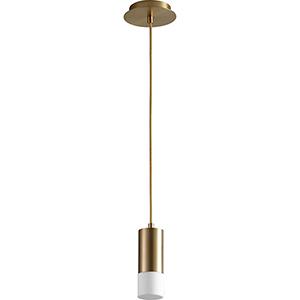 Magneta Aged Brass 10-Inch One-Light LED Mini Pendant