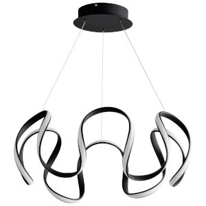 Cirro Black 28-Inch LED Chandelier
