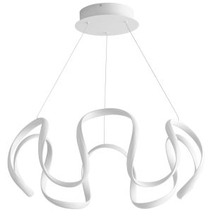 Cirro White 28-Inch LED Chandelier