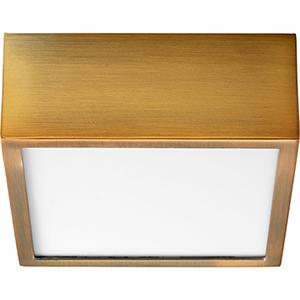 Pyxis Aged Brass One-Light LED Flush Mount