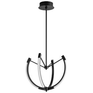 Utopia Black 21-Inch Four-Light LED Chandelier