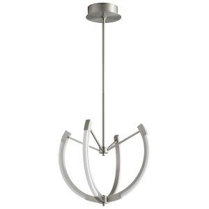 Utopia Satin Nickel 21-Inch Four-Light LED Chandelier