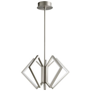 Acadia Satin Nickel 25-Inch Five-Light LED Chandelier