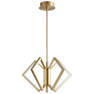 Acadia Aged Brass 25-Inch Five-Light LED Chandelier