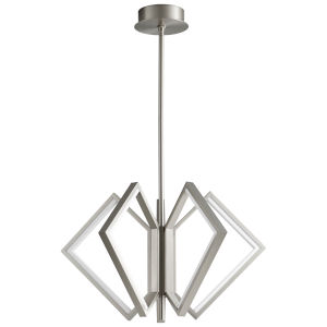 Acadia Satin Nickel 30-Inch Five-Light LED Chandelier