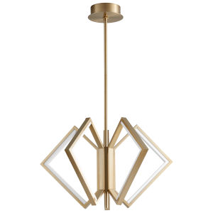 Acadia Aged Brass 30-Inch Five-Light LED Chandelier