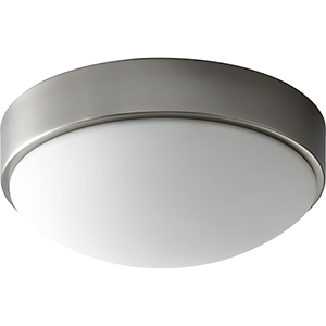 Journey Satin Nickel 11-Inch One-Light LED Flush Mount with White Opal Glass