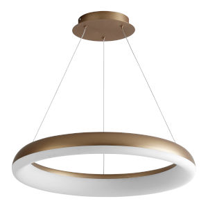 Roswell Aged Brass LED Chandelier
