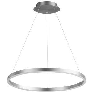 Circulo Satin Nickel 24-Inch LED Chandelier