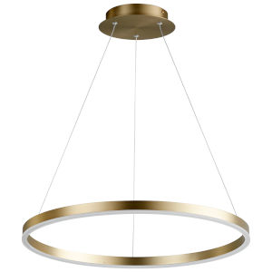 Circulo Aged Brass 24-Inch LED Chandelier