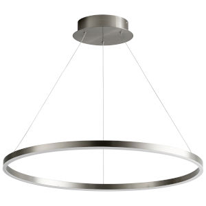 Circulo Satin Nickel 32-Inch LED Chandelier