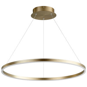 Circulo Aged Brass 32-Inch LED Chandelier