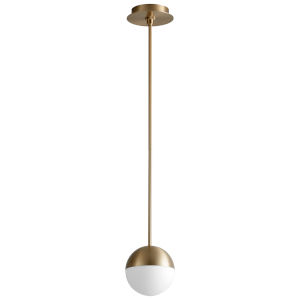 Mondo Aged Brass Six-Inch LED Mini-Pendant