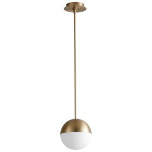 Mondo Aged Brass Eight-Inch LED Mini-Pendant
