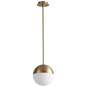 Mondo Aged Brass 10-Inch LED Pendant